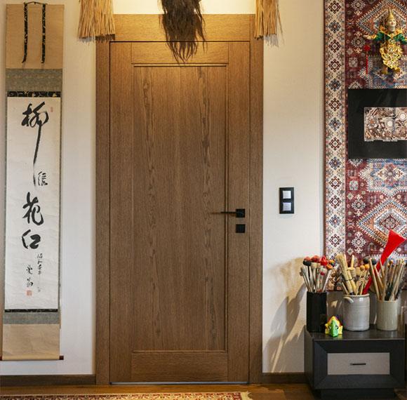 wewnętrzne drzwi drewniane