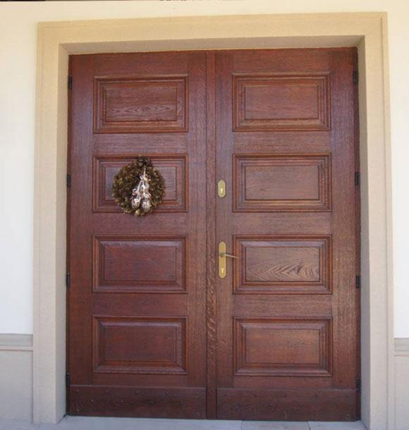 drzwi drewniane dwuskrzydłowe