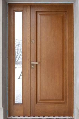 drzwi zewnętrzne z szybą