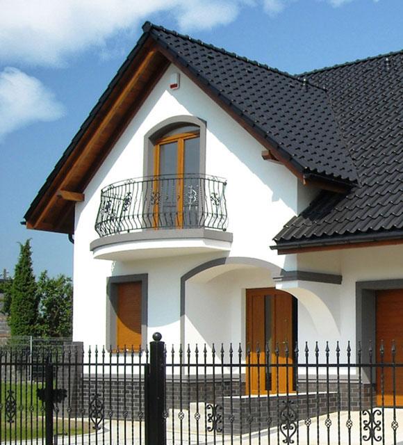 okna pcv w domu jednorodzinnym